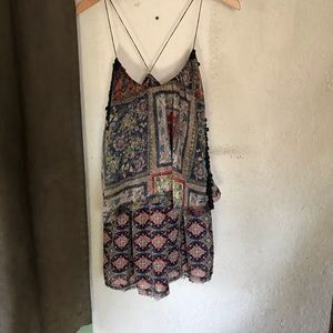 Free People Paisley Spaghetti Strap Dress
